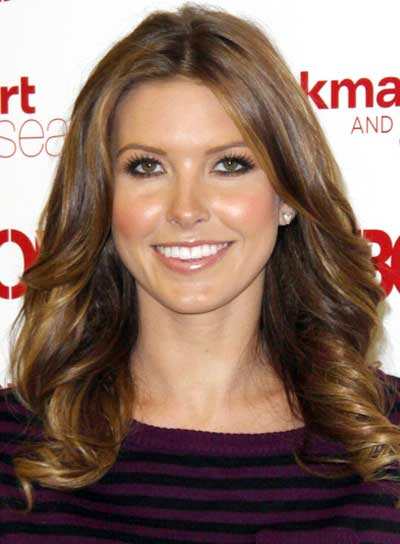 Audrina Patridge Romantic, Brunette Hairstyle with Highlights