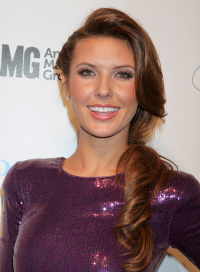 Audrina Patridge Long, Curly, Chic, Sexy, Brunette Ponytail with Braids and Twists