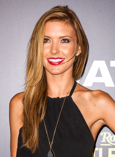 Audrina Patridge's Long, Straight, Sexy, Brunette Hairstyle