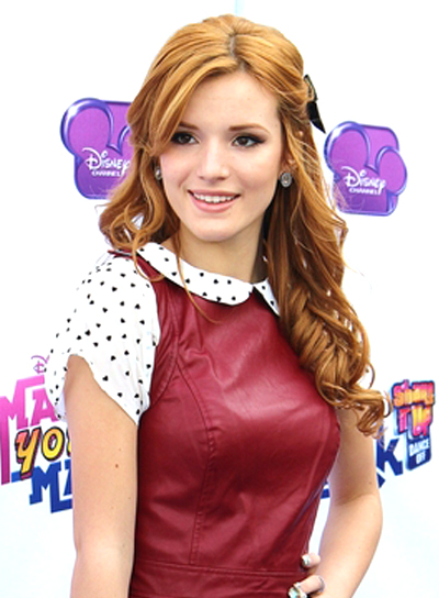 Bella Thorne's Long, Red, Party, Half Updo, Hairstyle