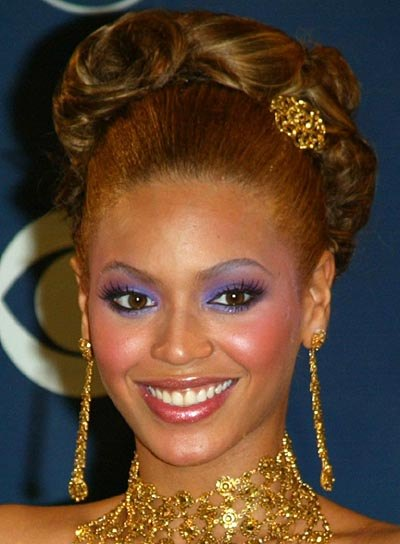 Beyonce Knowles Wedding Updo