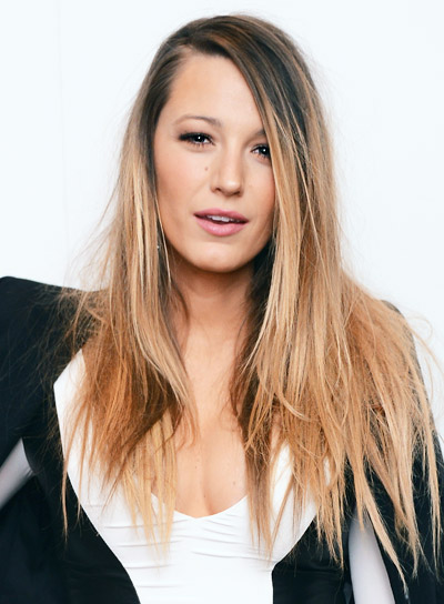 Blake Lively Long, Straight, Blonde, Edgy Hairstyle