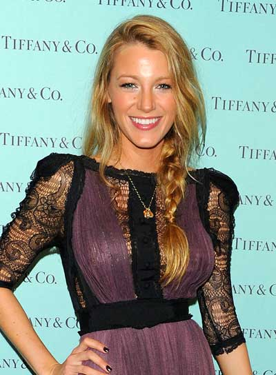Blake Lively Long, Sexy, Blonde Hairstyle with Braids and Twists