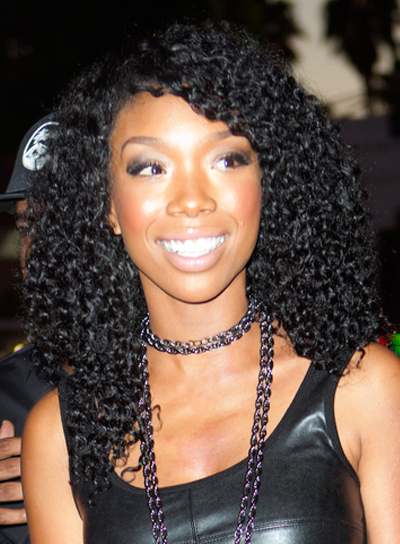 Brandy's Long, Black, Curly, Party Hairstyle