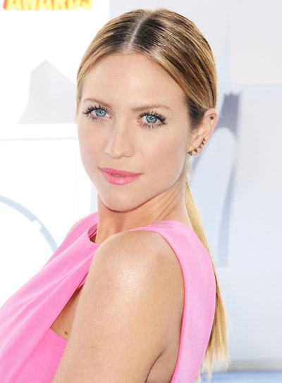 Brittany Snow with a Long, Blonde, Straight, Ponytail Hairstyle Pictures