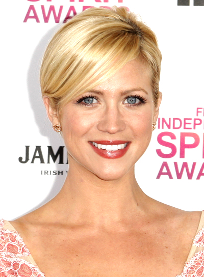 Brittany Snow's Chic, Sophisticated, Blonde, Updo Hairstyle