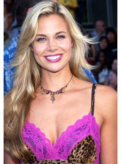 Brooke Burns Sexy, Layered Hairstyle for Long Hair