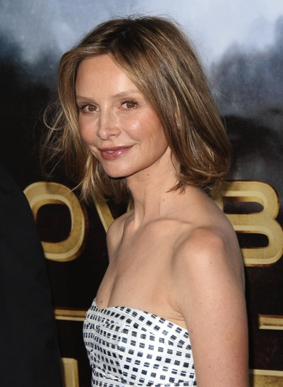 Calista Flockhart Short, Chic, Blonde Hairstyle