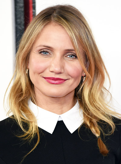 Cameron Diaz with a Medium, Tousled, Blonde, Romantic Hairstyle Pictures