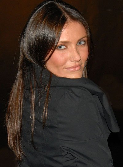 Cameron Diaz Long, Straight, Brunette Hairstyle