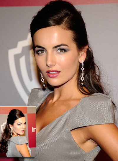 Camilla Belle Long, Tousled, Sophisticated, Brunette Half Updo