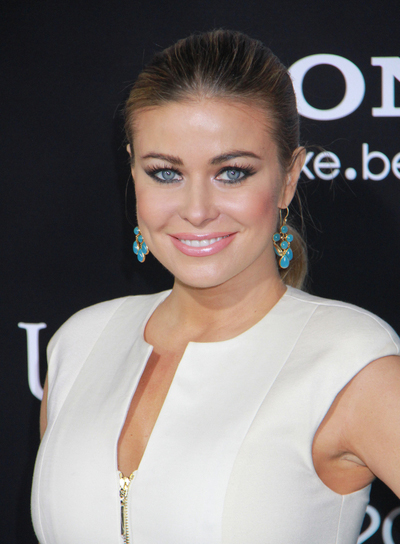 Carmen Electra Chic, Brunette Ponytail with Highlights