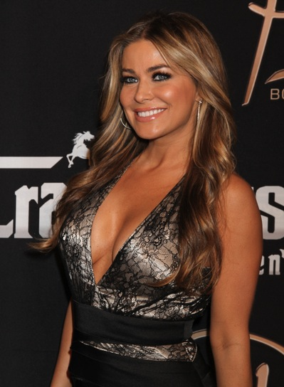 Carmen Electra Long, Brunette Hairstyle with Highlights