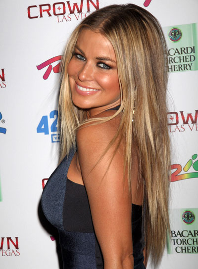 Carmen Electra Long, Straight, Blonde Hairstyle