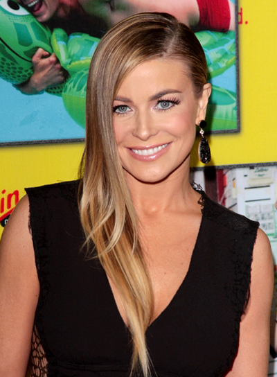 Carmen Electra's Long, Straight, Edgy, Chic Hairstyle