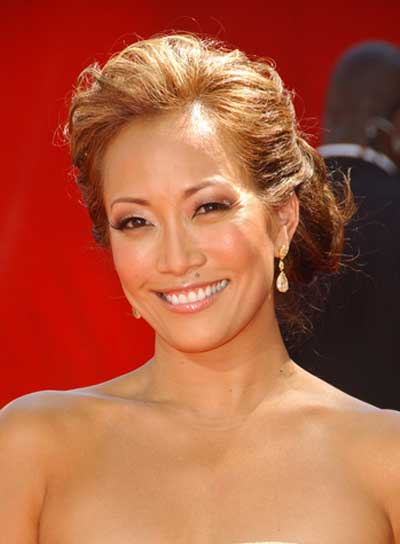 Carrie Ann Inaba Romantic, Tousled, Updo