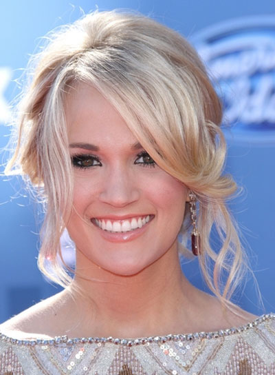 Carrie Underwood Curly, Romantic, Prom Updo