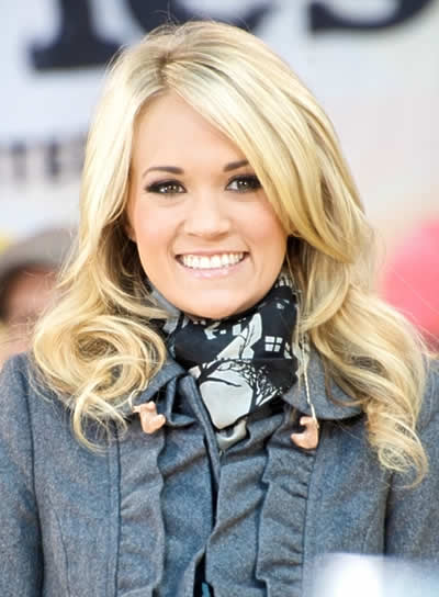 Carrie Underwood Long, Wavy, Blonde Hairstyle