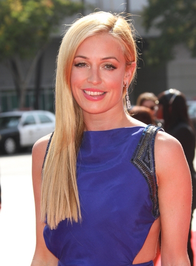 Cat Deeley Long, Straight, Blunt, Blonde Hairstyle