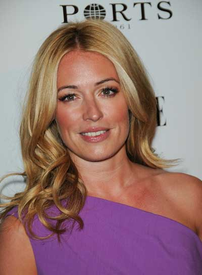 Cat Deeley Medium, Curly, Blonde Hairstyle