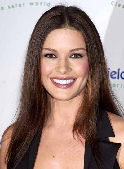 Catherine Zeta-Jones Long, Straight Hairstyle