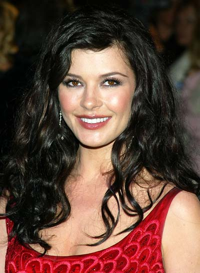 Catherine Zeta-Jones Long, Wavy, Black Hairstyle