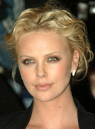 Charlize Theron's Curly, Sexy Updo