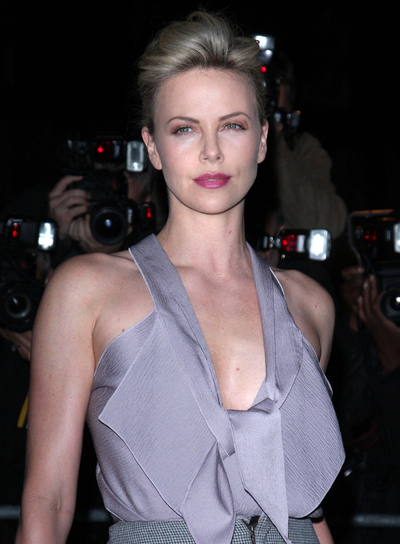 Charlize Theron's Chic, Edgy Updo