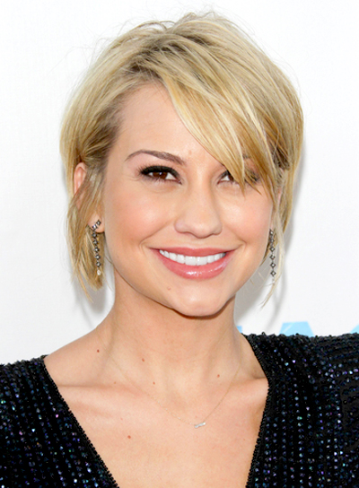 Chelsea Kane's Short, Blonde, Chic, Straight Hairstyle