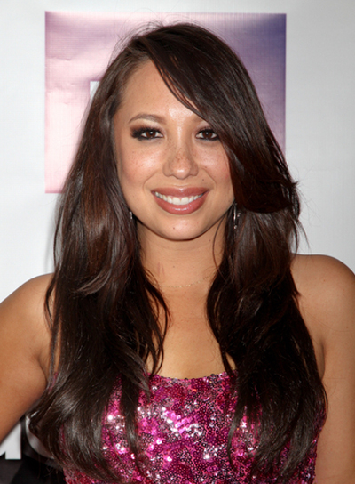 Cheryl Burke's Long, Tousled, Layered, Brunette Hairstyle