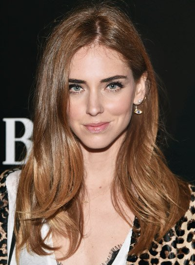 Chiara Ferragni with a Long, Layered, Brunette, Chic Hairstyle Pictures