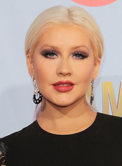 Christina Aguilera's Long, Straight, Blonde, Ponytail Hairstyle
