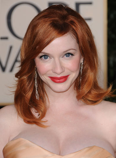Christina Hendricks Romantic, Red Hairstyle
