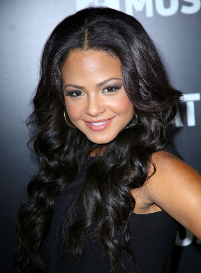 Christina Milian's Long, Black, Wavy, Sexy Hairstyle