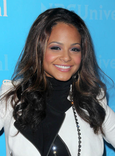 Christina Milian Long, Sexy, Curly, Party, Black Hairstyle