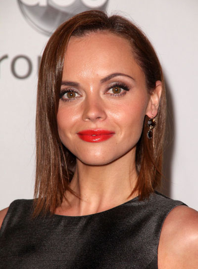 Christina Ricci Short, Straight, Sophisticated, Brunette Hairstyle