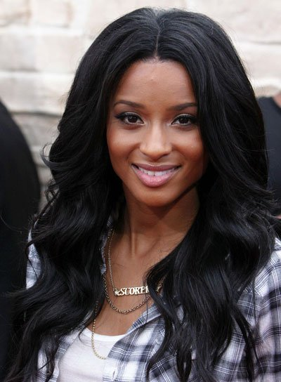 Ciara Long, Wavy, Black Hairstyle