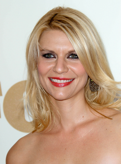 Claire Danes Medium, Layered, Blonde Hairstyle