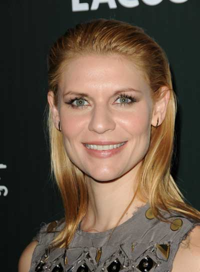 Claire Danes Medium, Straight, Chic, Blonde Hairstyle