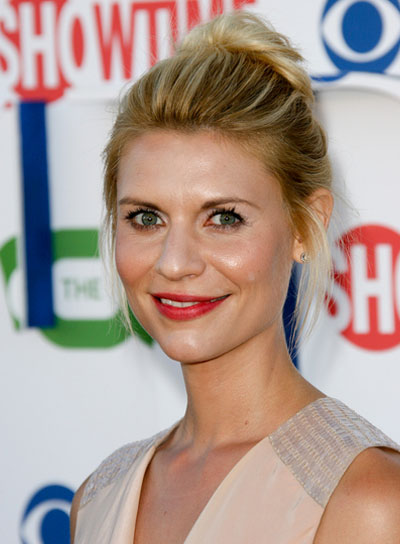 Claire Danes Chic, Romantic, Blonde Updo