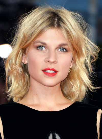 Clemence Poesy with a Short, Tousled, Blonde, Romantic Hairstyle Pictures