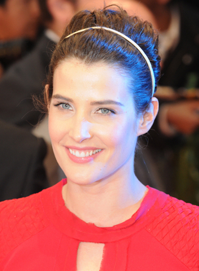 Cobie Smulders' Long, Wavy, Formal, Updo Hairstyle