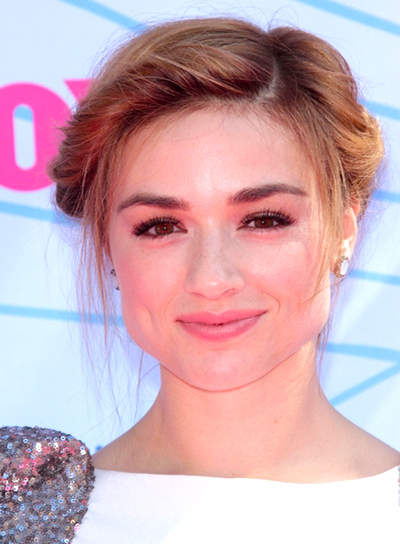 Crystal Reed's Chic, Romantic, Updo Hairstyle with Braids and Twists