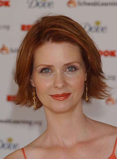 Cynthia Nixon Short, Red Hairstyle