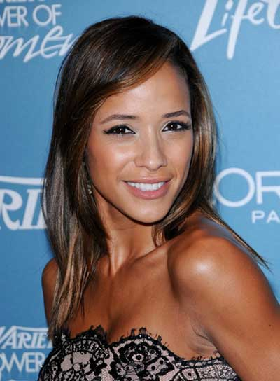 Dania Ramirez Medium, Straight, Sophisticated, Brunette Hairstyle