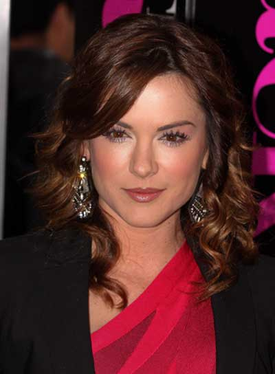 Danneel Harris Medium, Curly, Brunette Hairstyle