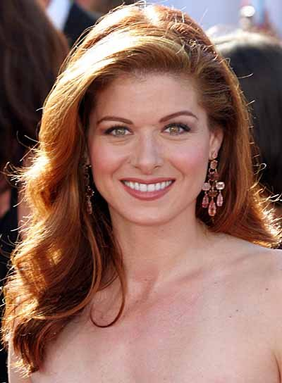 Debra Messing Long, Red, Wavy Hairstyle