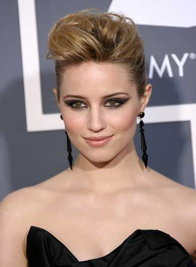 Dianna Agron Chic, Straight, Blonde Updo