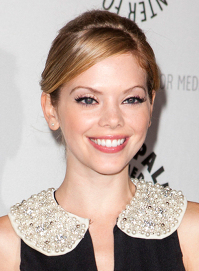 Dreama Walker's Chic, Sophisticated, Party, Updo Hairstyle