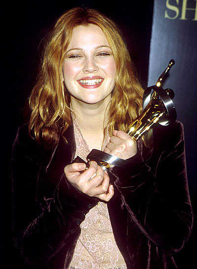 Drew Barrymore Long, Romantic, Tousled Hairstyle